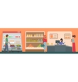 People shopping in a supermarket concept vector image vector image