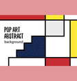 pop art geometry mondrian style line back vector image vector image