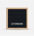 realistic letter board vector image