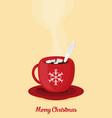 red christmas coffee mug vector image vector image
