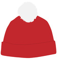 Red winter hat vector image vector image