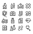 Science and Medical icons stock vector image vector image