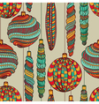 Seamless Christmas vintage pattern vector image