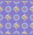 seamless pattern with science themed atomic model vector image vector image