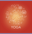 set hand drawn yoga and wellness line icons vector image vector image