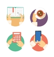 Set of business hands icons showing actions vector image vector image