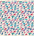 shoes fashion collection seamless pattern vector image vector image