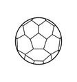 sport soccer ball vector image vector image