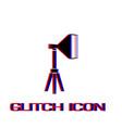 studio lighting icon flat vector image vector image