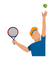 tennis player design vector image vector image