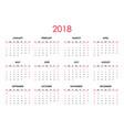 the 2018 calendar vector image vector image
