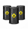 three oil barels vector image