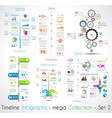 Timeline Infographic design templates Set 2
