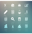 tools learning set on Retina background vector image vector image