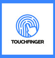 touch fingerprint app logo vector image