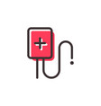 transfusion blood outline icon vector image