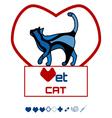 Vet cat2 vector image vector image