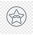 walk of fame concept linear icon isolated on vector image