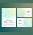 wedding invitation greeting card design vector image vector image