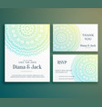 wedding invitation greeting card design with vector image vector image