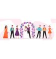 wedding marriage ceremony horizontal vector image vector image