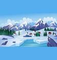 winter lake flat vector image
