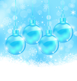 winter snowflakes background with christmas glass