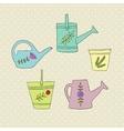 gardening design elements vector image