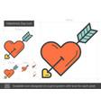 valentine day line icon vector image