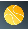 Basketball halftone stylized vector image