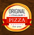 restaurant menu with pizza vector image