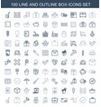 100 box icons vector image vector image