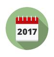 2017 Calendar Icon vector image vector image