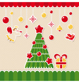 abstract christmas lovely cute card vector image vector image