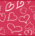 Abstract seamless pattern with hearts and red