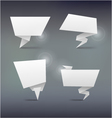 Abstract white origami banners design element vector image