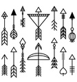 Arrows and Bow Set vector image