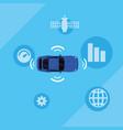 autonomous smart car vector image