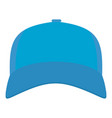 baseball cap in front icon flat style vector image vector image
