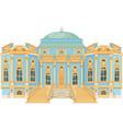 blue rococo palace vector image