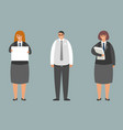 business team office workers standing characters vector image