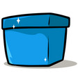 cartoon shiny blue present gift box vector image vector image