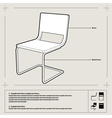 chair blueprint background vector image vector image