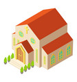 church architecture icon isometric style vector image vector image