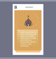 church mobile vertical banner design design vector image vector image