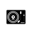 classic dj mixer turntable vinyl melody sound vector image