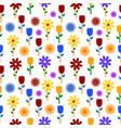 colorful flowers background pattern vector image
