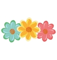 colorful flowers view graphic vector image vector image