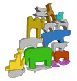 colorful toy animals or color vector image vector image