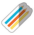 colors pencils icon stock vector image vector image